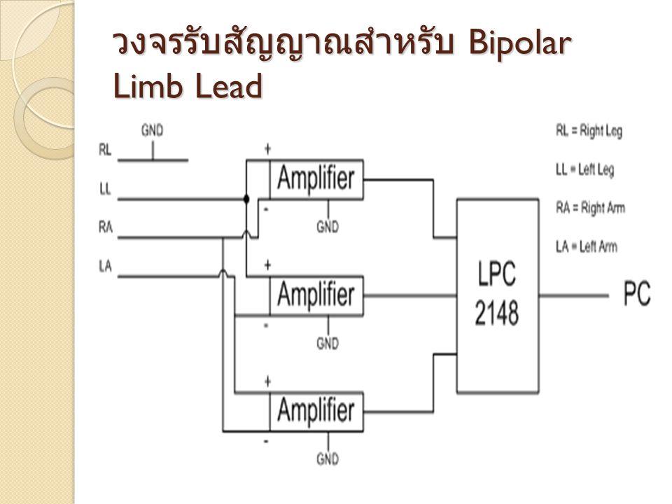 วงจรรับสัญญาณสำหรับ Bipolar Limb Lead