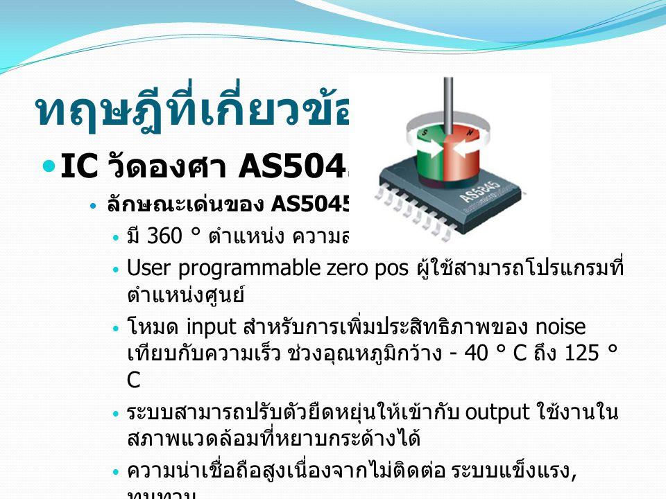ทฤษฎีที่เกี่ยวข้อง IC วัดองศา AS5045 ลักษณะเด่นของ AS5045