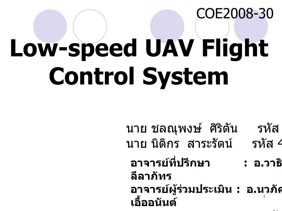 Low-speed UAV Flight Control System