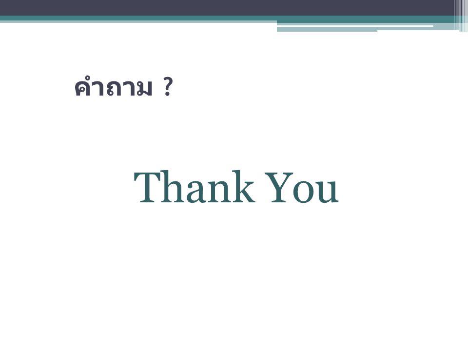 คำถาม Thank You