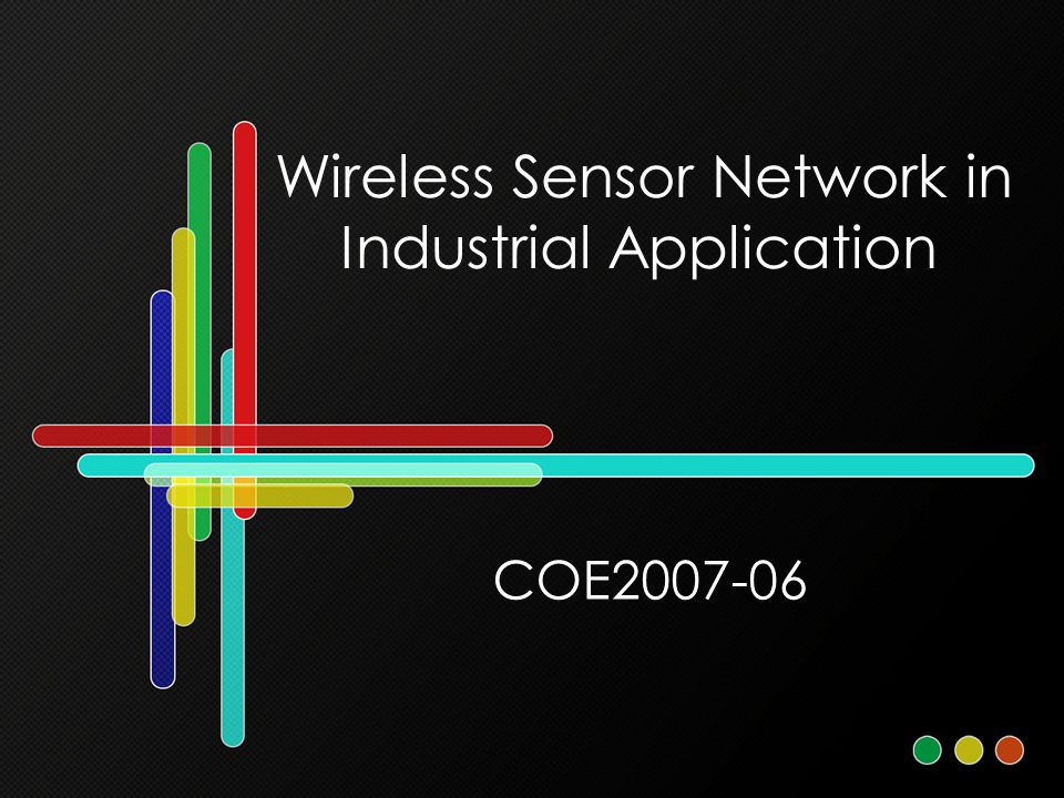 Wireless Sensor Network in Industrial Application