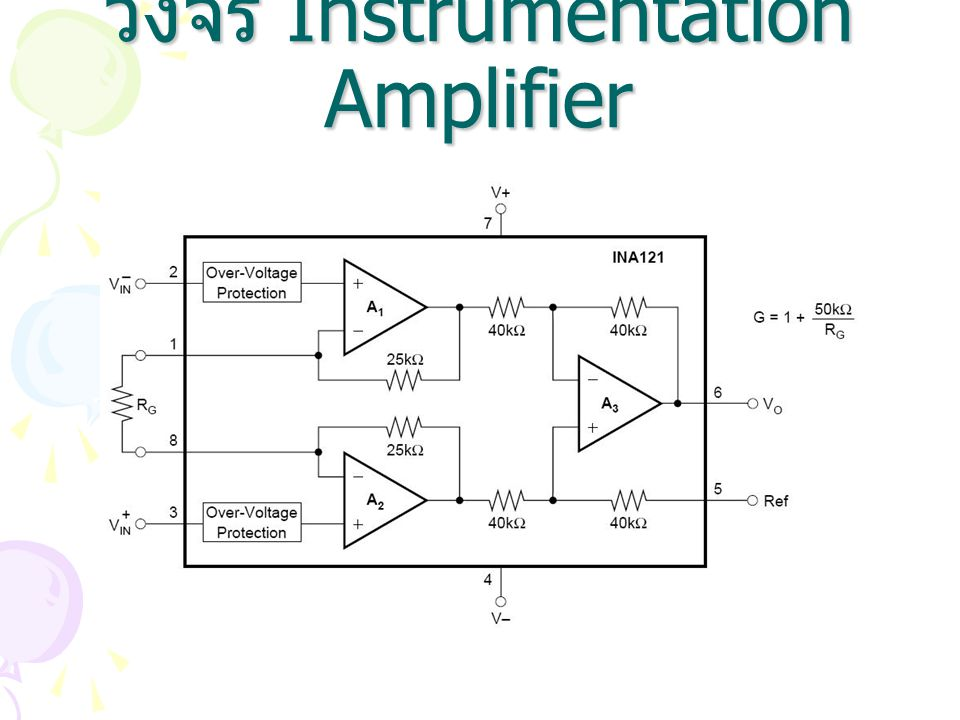 วงจร Instrumentation Amplifier