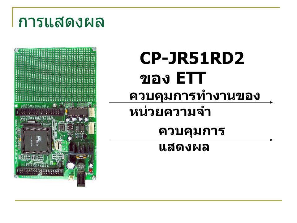 การแสดงผล CP-JR51RD2 ของ ETT ควบคุมการทำงานของหน่วยความจำ