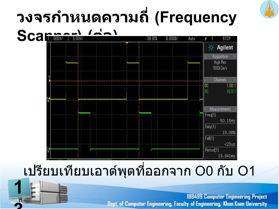 วงจรกำหนดความถี่ (Frequency Scanner) (ต่อ)