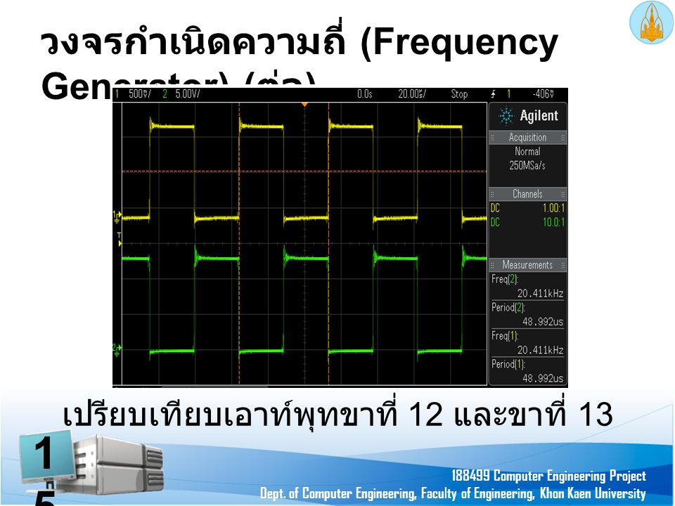 วงจรกำเนิดความถี่ (Frequency Generator) (ต่อ)