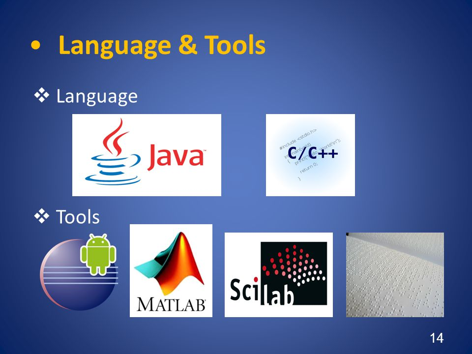 Language & Tools Language Tools