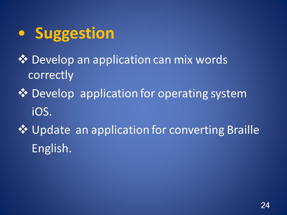 Suggestion Develop an application can mix words correctly