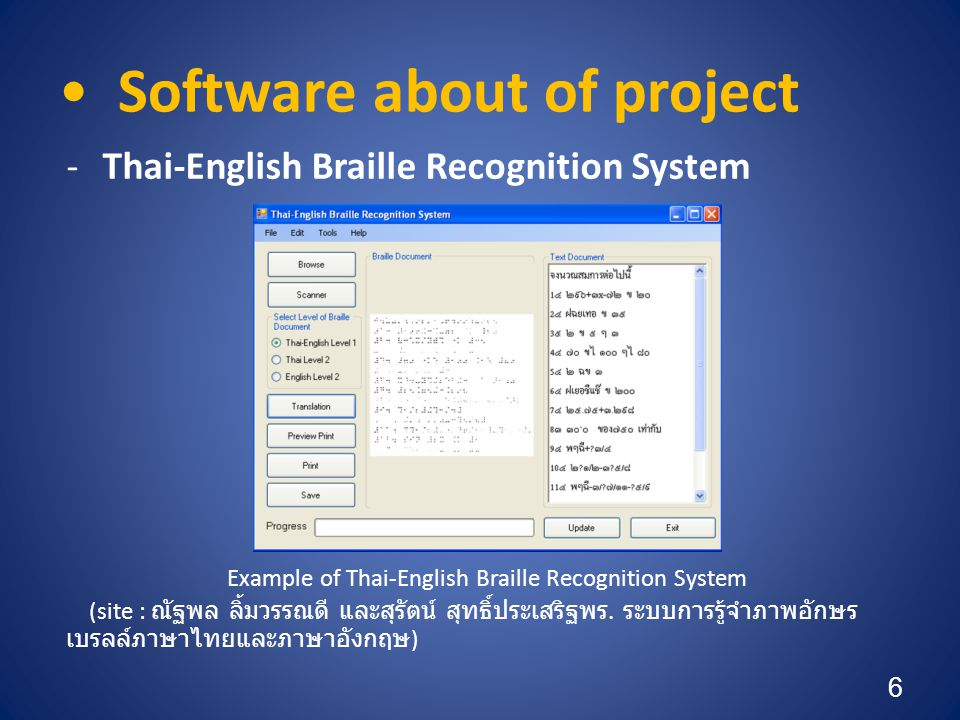 Software about of project