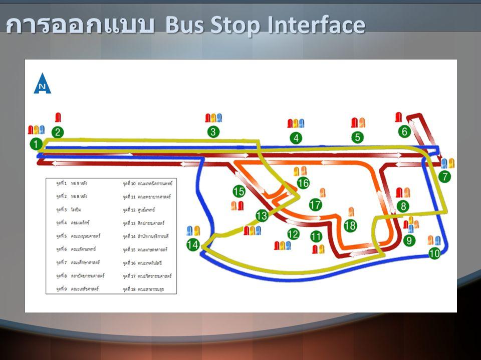 การออกแบบ Bus Stop Interface