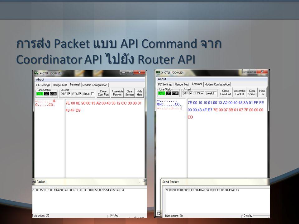 การส่ง Packet แบบ API Command จาก Coordinator API ไปยัง Router API
