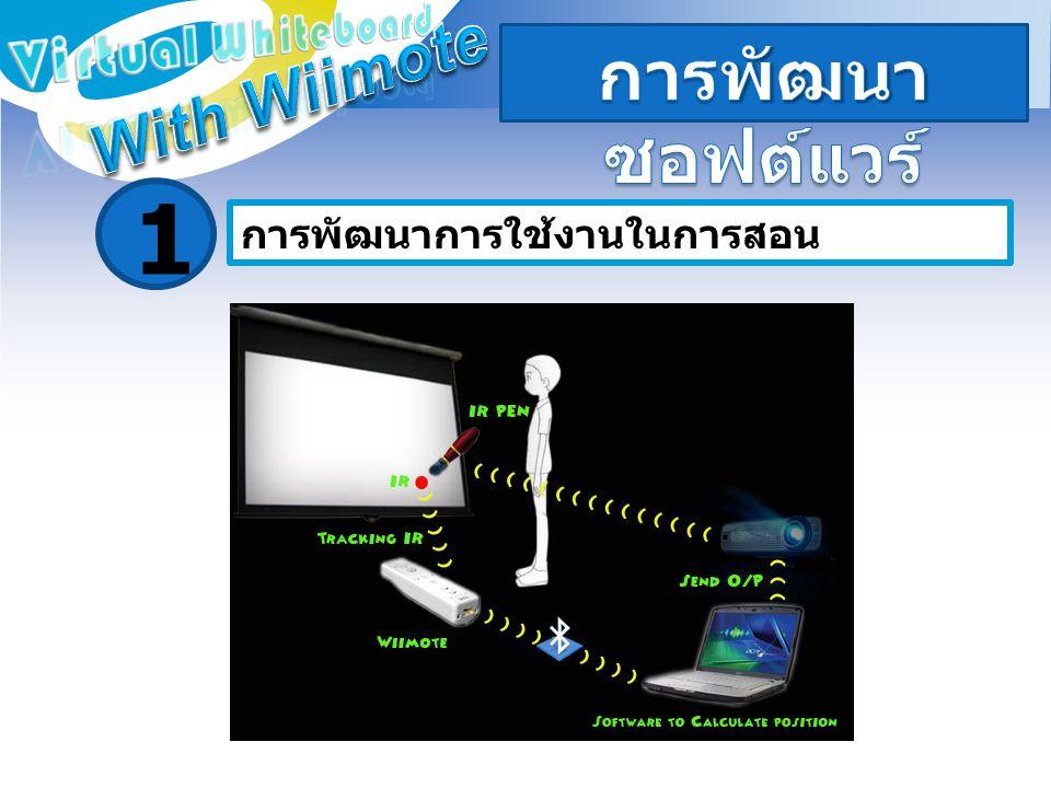 1 การพัฒนาซอฟต์แวร์ With Wiimote Virtual Whiteboard