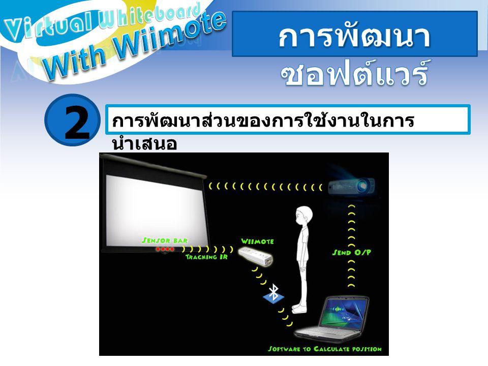 2 การพัฒนาซอฟต์แวร์ With Wiimote Virtual Whiteboard