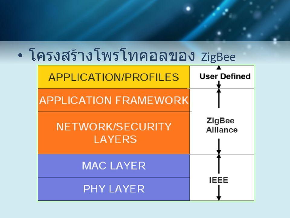โครงสร้างโพรโทคอลของ ZigBee