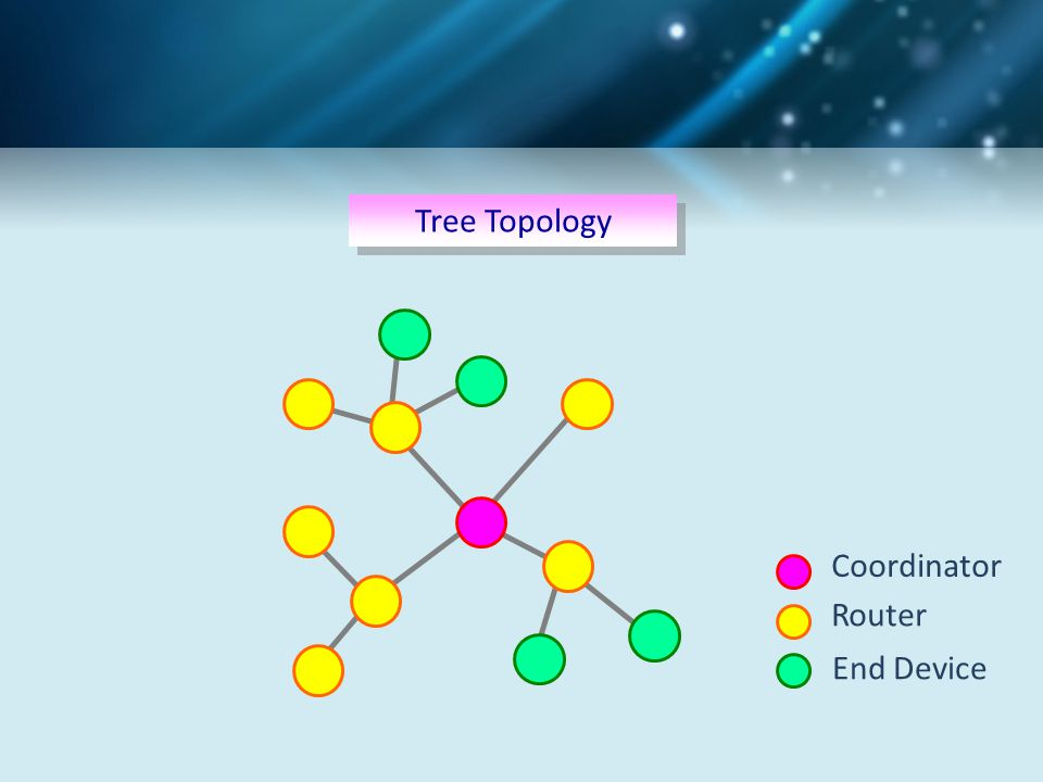 Tree Topology Coordinator Router End Device