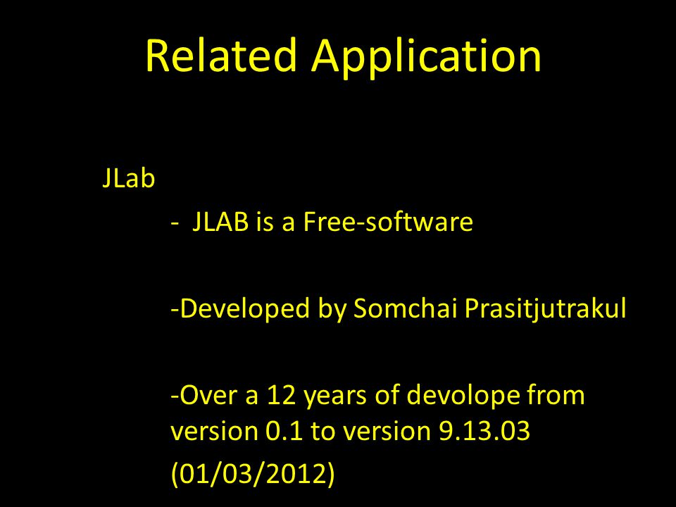 Related Application JLab - JLAB is a Free-software