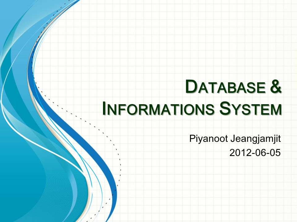Database & Informations System