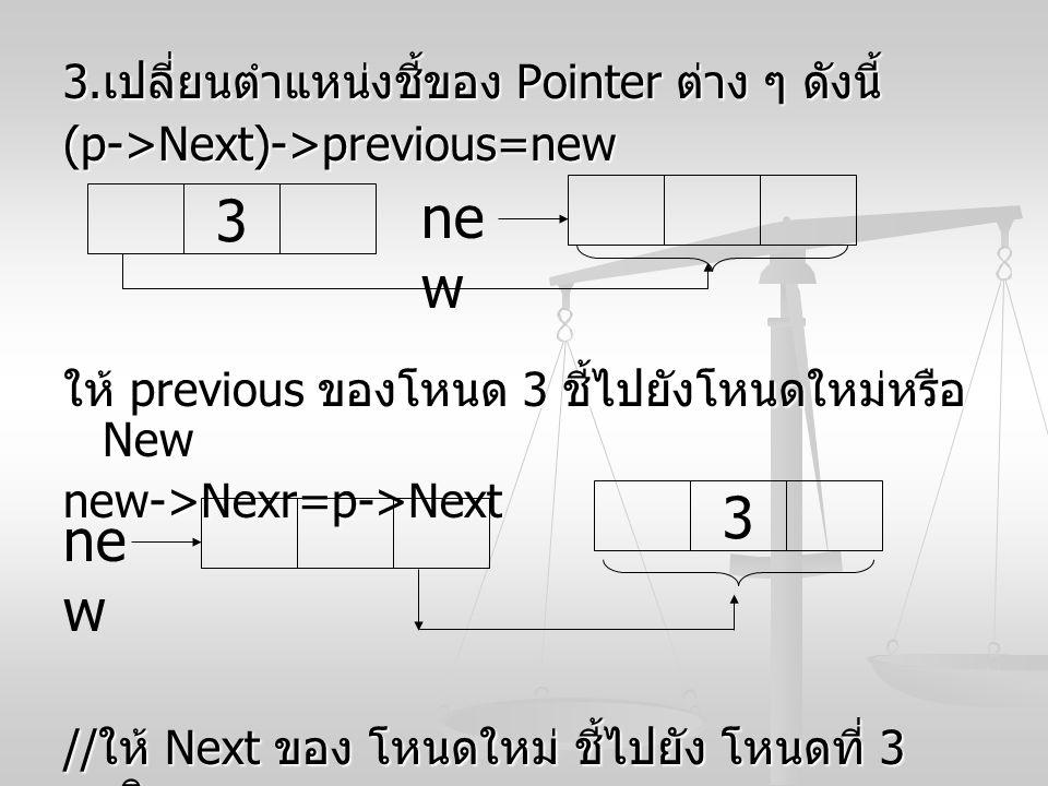 new 3 3 new 3.เปลี่ยนตำแหน่งชี้ของ Pointer ต่าง ๆ ดังนี้