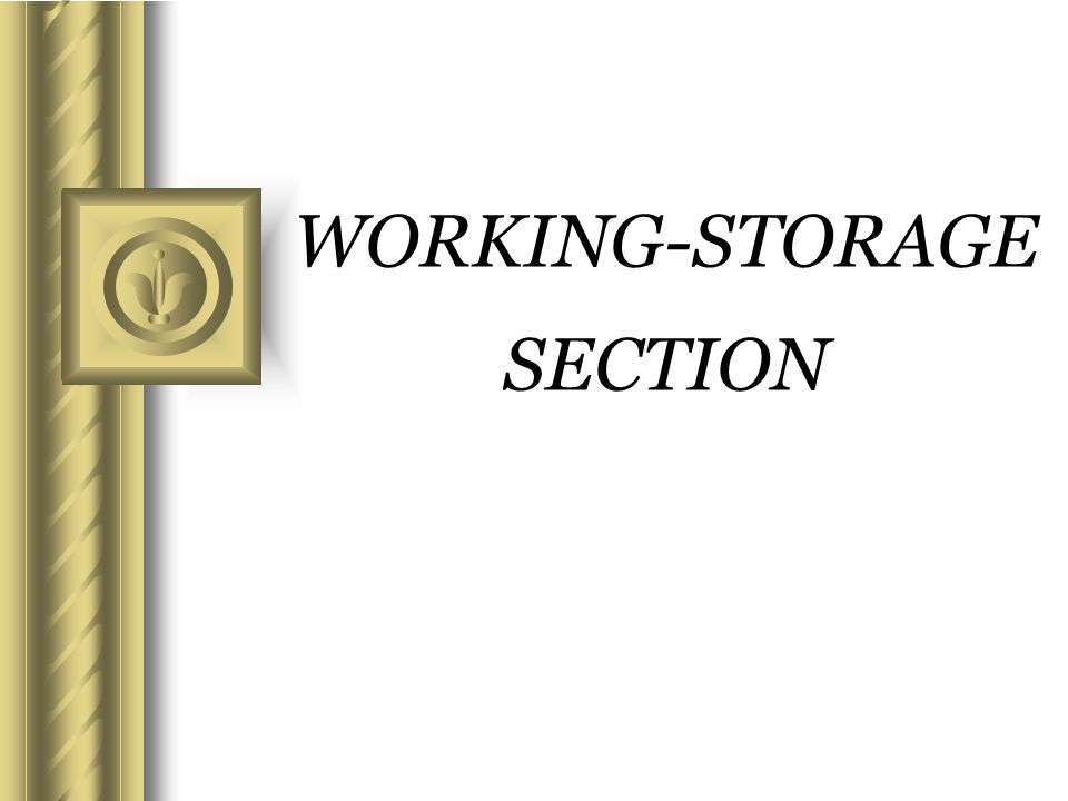 WORKING-STORAGE SECTION