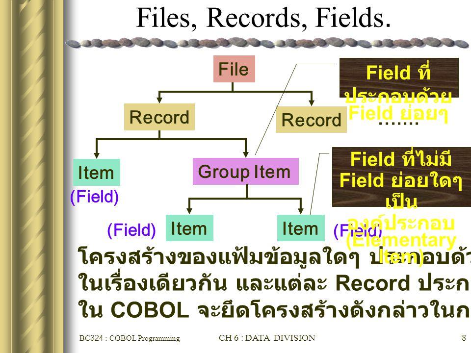 Field ที่ไม่มี Field ย่อยใดๆ เป็นองค์ประกอบ