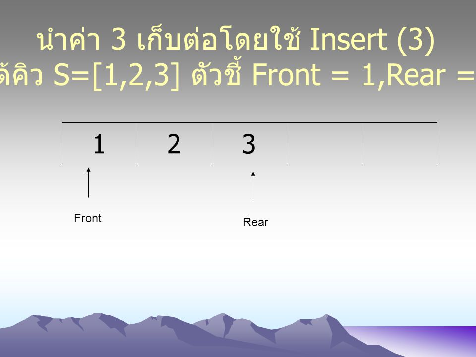 นำค่า 3 เก็บต่อโดยใช้ Insert (3)
