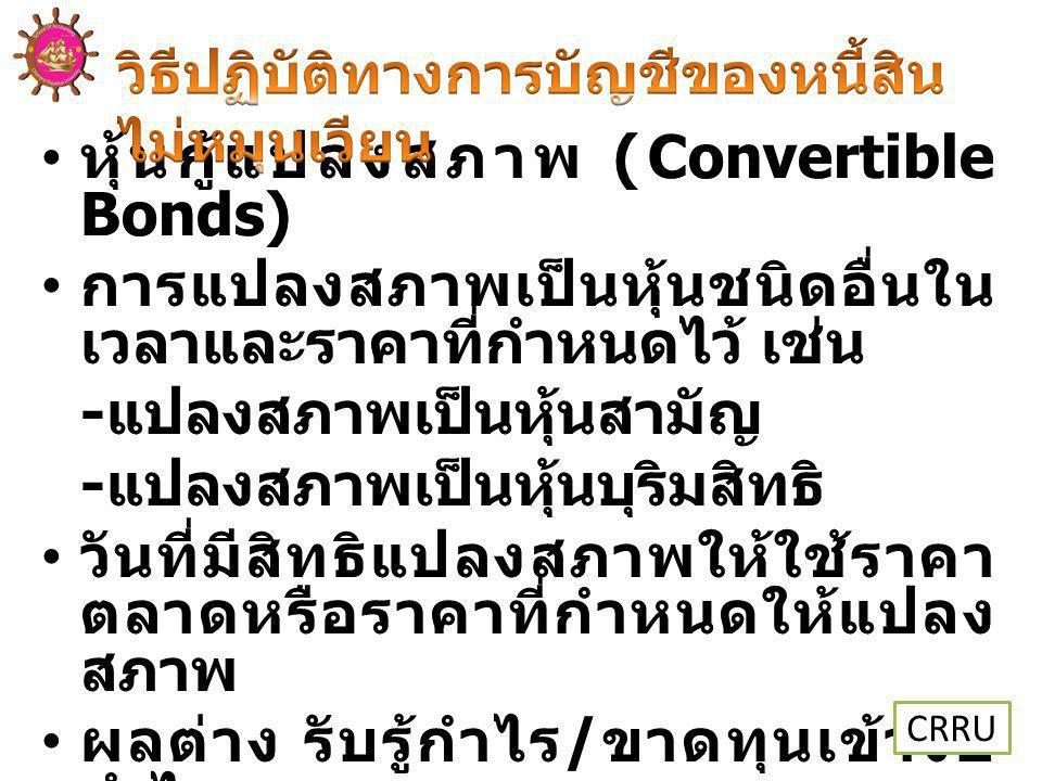 หุ้นกู้แปลงสภาพ (Convertible Bonds)