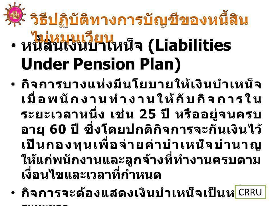 หนี้สินเงินบำเหน็จ (Liabilities Under Pension Plan)