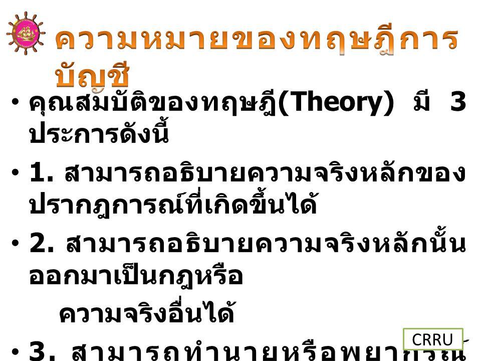 ความหมายของทฤษฎีการบัญชี