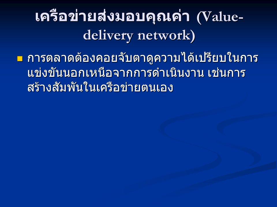 เครือข่ายส่งมอบคุณค่า (Value-delivery network)