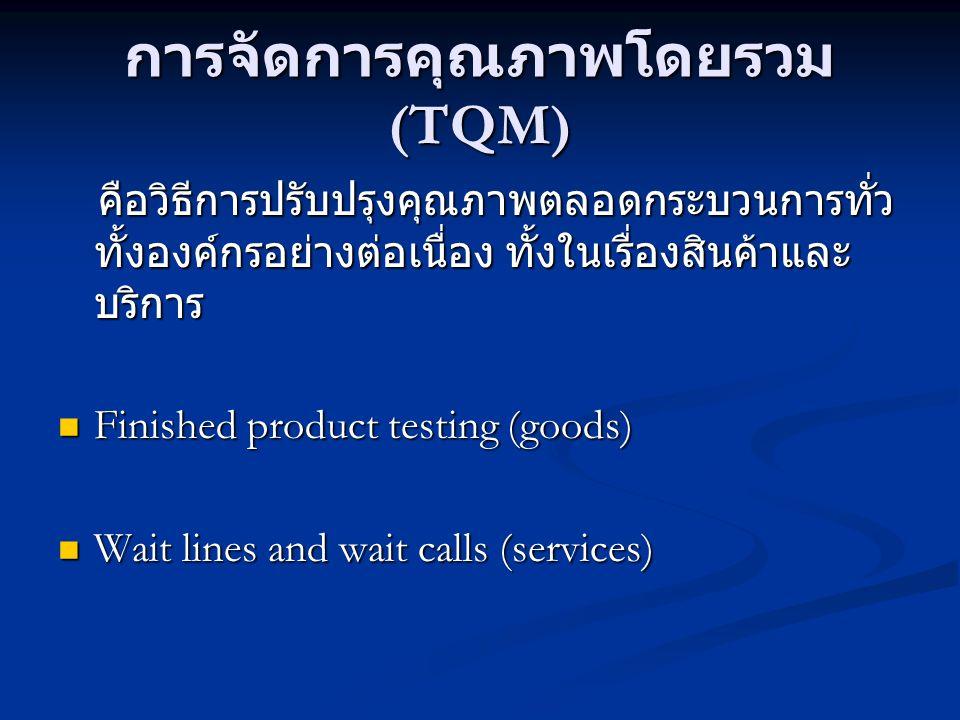 การจัดการคุณภาพโดยรวม (TQM)