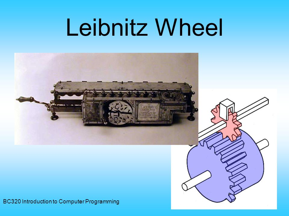 Leibnitz Wheel BC320 Introduction to Computer Programming