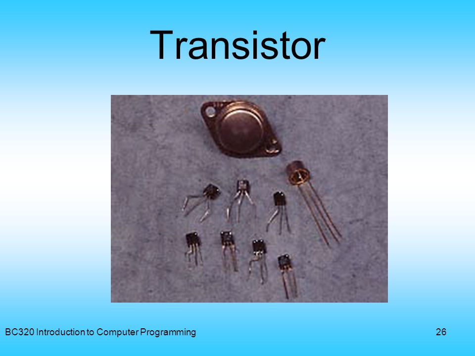 Transistor BC320 Introduction to Computer Programming
