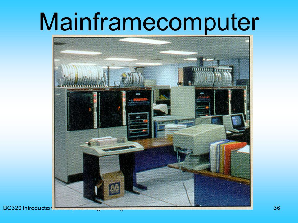 Mainframecomputer BC320 Introduction to Computer Programming