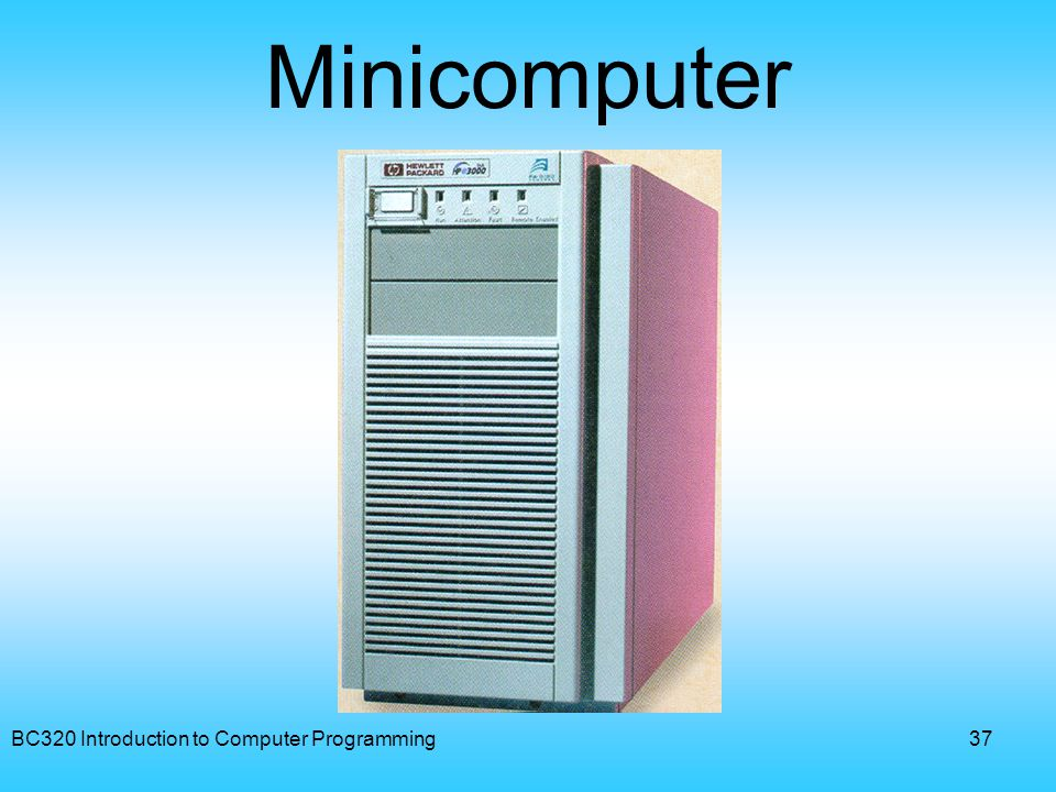 Minicomputer BC320 Introduction to Computer Programming