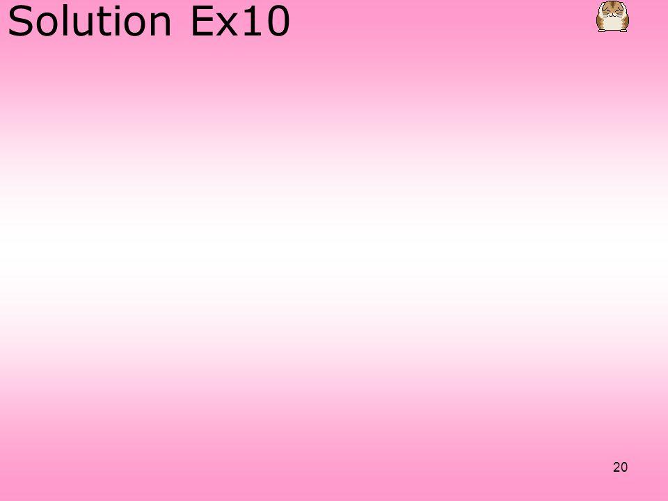 Solution Ex10