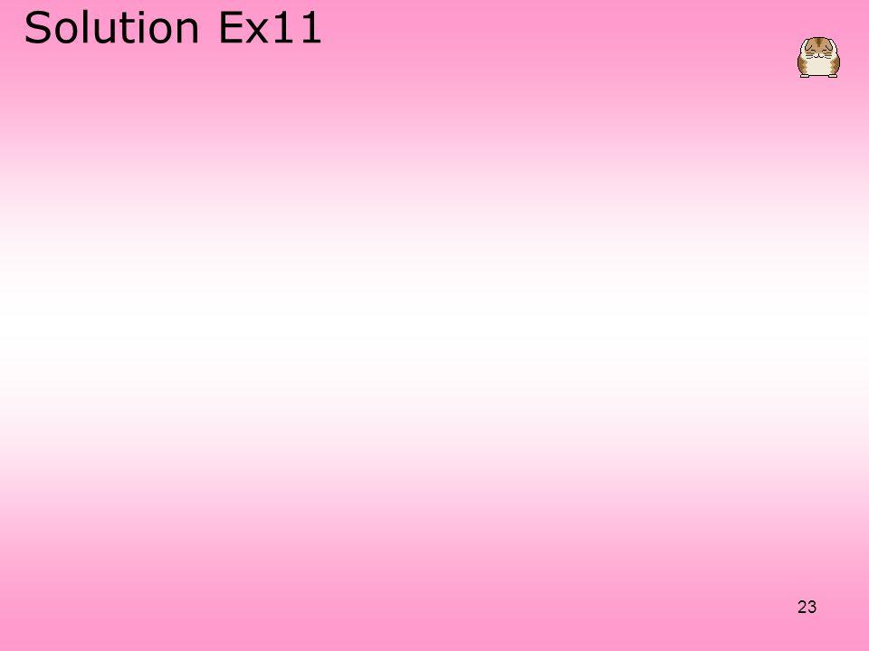 Solution Ex11