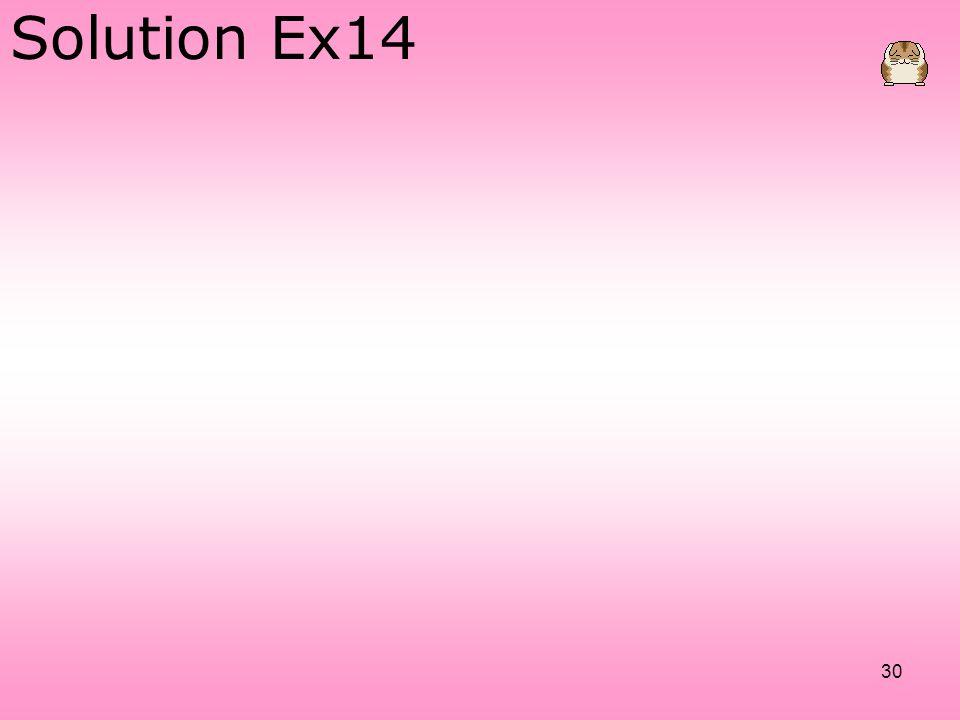 Solution Ex14