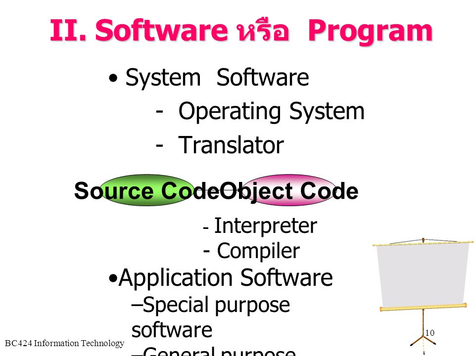 II. Software หรือ Program