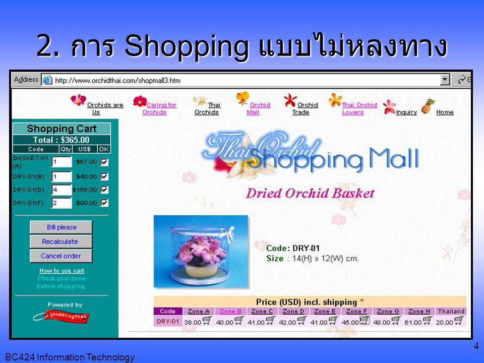 2. การ Shopping แบบไม่หลงทาง