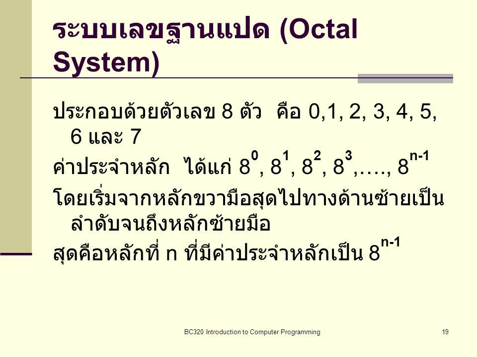 ระบบเลขฐานแปด (Octal System)
