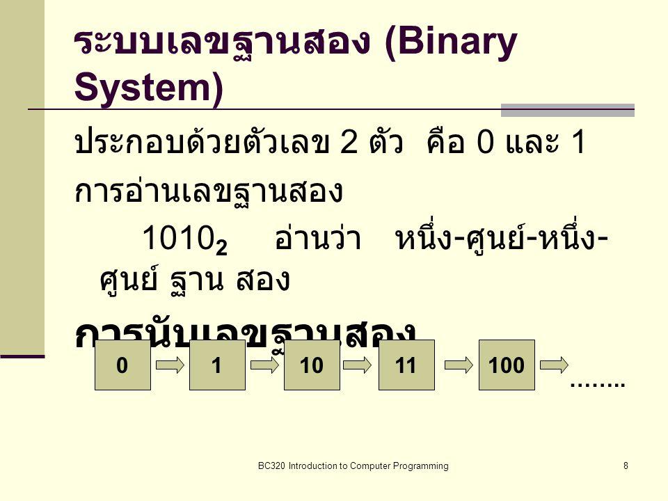 ระบบเลขฐานสอง (Binary System)