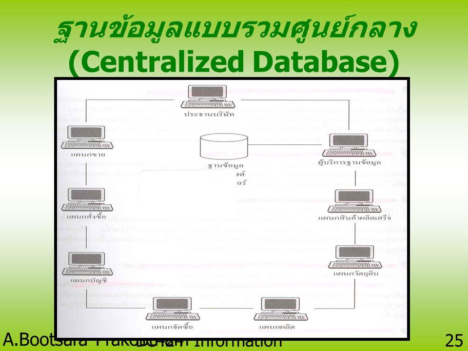 ฐานข้อมูลแบบรวมศูนย์กลาง (Centralized Database)