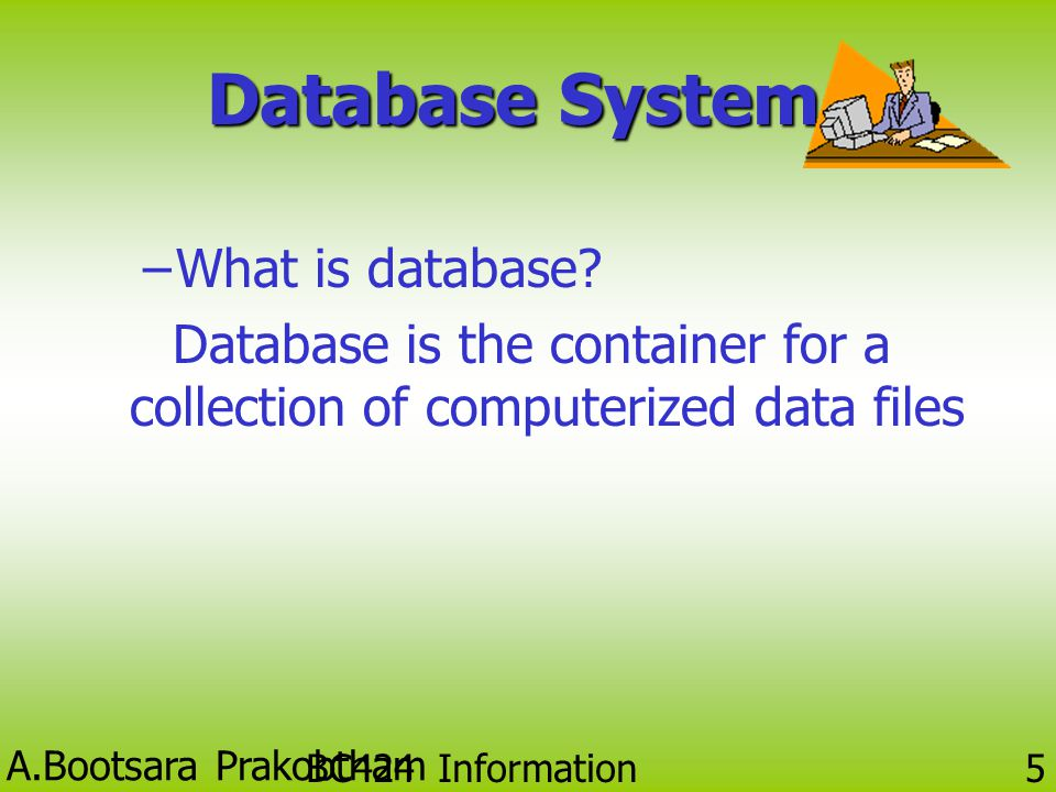 Database System What is database