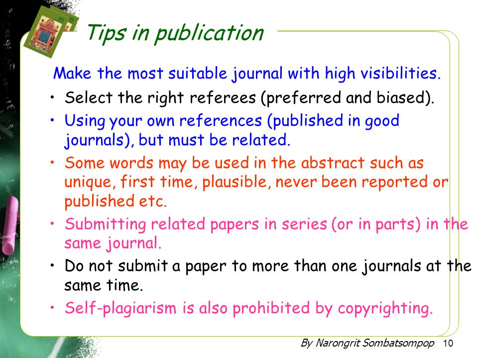 Make the most suitable journal with high visibilities.