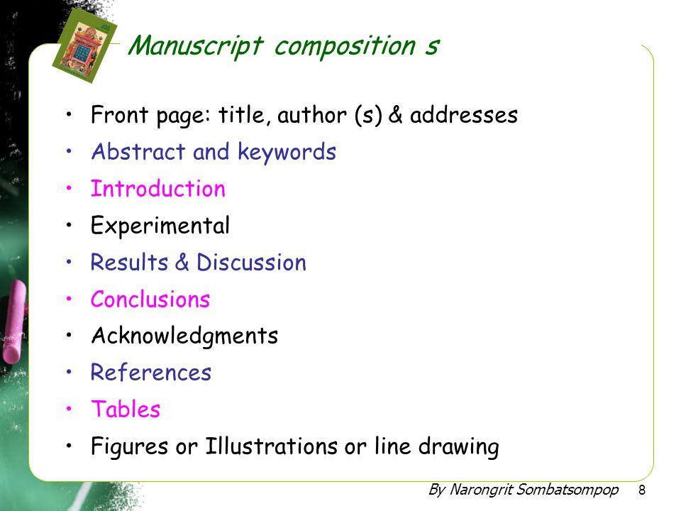 Manuscript composition s
