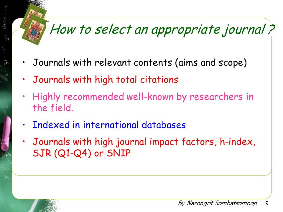 How to select an appropriate journal