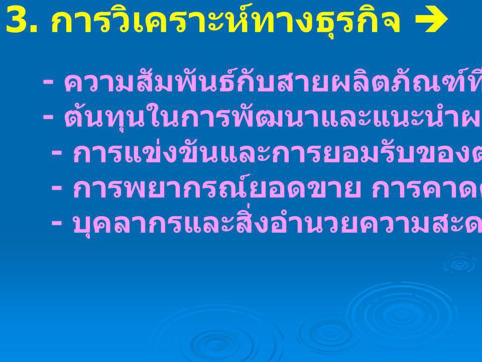 3. การวิเคราะห์ทางธุรกิจ 