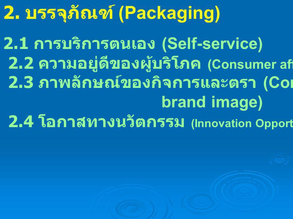 2. บรรจุภัณฑ์ (Packaging)