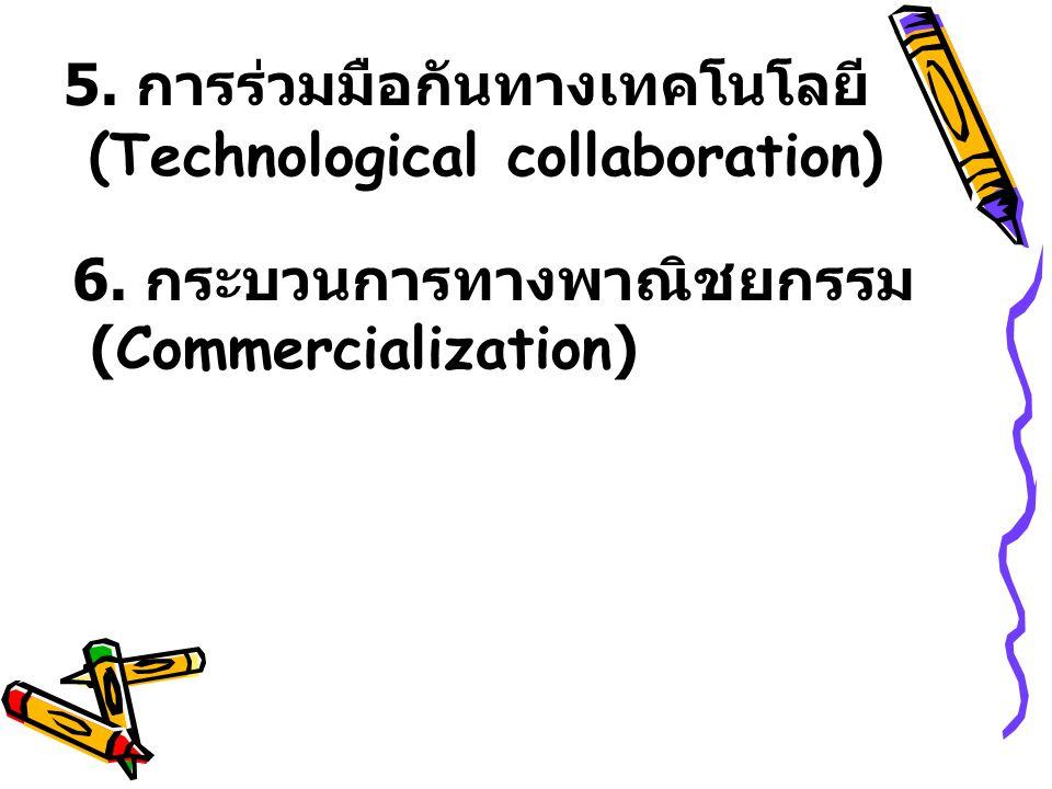 5. การร่วมมือกันทางเทคโนโลยี