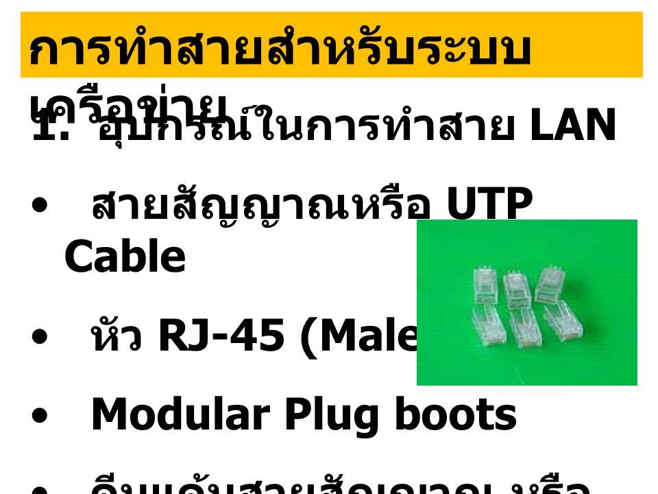 การทำสายสำหรับระบบเครือข่าย