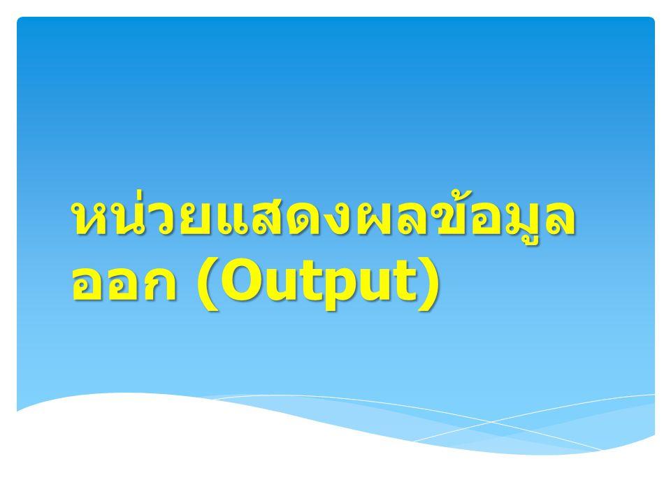 หน่วยแสดงผลข้อมูลออก (Output)